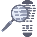 detective, Footprint, magnifying glass, Loupe, security, searcher Black icon