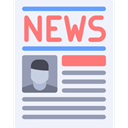 News Report, Communications, Newspaper, Journal, News AliceBlue icon