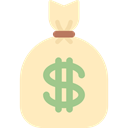 Bank, money bag, Business And Finance, Dollar Symbol, Bag, Money, commerce Bisque icon