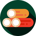 wood, wooden, Log, nature DarkGreen icon