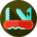 equipment, Tools And Utensils, Blade, Construction And Tools, Switzerland, Swiss Army Knife DarkOliveGreen icon