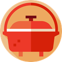 kitchenware, Food And Restaurant, Dutch Oven, Cooking SandyBrown icon
