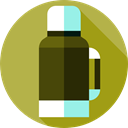 Coffee, flask, liquid, Thermo, Food And Restaurant, drink, Tools And Utensils DarkKhaki icon
