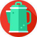 Coffee Pot, hot drink, food, Tools And Utensils, Food And Restaurant, Coffee, kettle, kitchenware Crimson icon