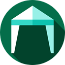 woods, canopy, Camping, sleep, Tent, Holidays DarkGreen icon