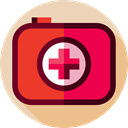 Healthcare And Medical, medical, first aid kit, doctor, Health Care, hospital Crimson icon