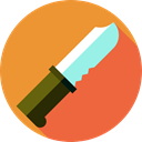food, Construction And Tools, Tools And Utensils, Knife, slice, Cut Goldenrod icon