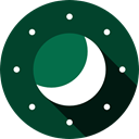 Half Moon, Moon Phase, nature, night DarkGreen icon