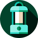 light, illumination, electronics, Candle, Tools And Utensils, Lantern, Lanterns DarkGreen icon