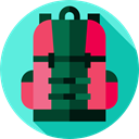 luggage, baggage, Bags, travel, Backpack Turquoise icon