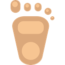 Foot, Footprint, baby, Kid And Baby, barefoot BurlyWood icon