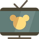 entertainment, Cartoons, Kid And Baby, television, leisure, Tv DimGray icon