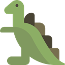 Extinct, Animals, Toy, Wild Life, dinosaur, Kid And Baby DarkSeaGreen icon