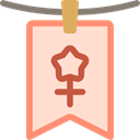 Gender, Femenine, Female, Girl, symbol, signs, Kid And Baby Bisque icon