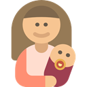 mother, baby, Kid And Baby, people, woman, Motherhood, Family Gray icon