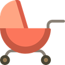 Pushchair, stroller, transport, children, Buggy, childhood, Kid And Baby Black icon