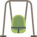 Park, leisure, Playground, Kid And Baby, swing Gray icon