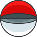 gaming, nintendo, pokemon, Open Pokeball, video game Red icon
