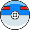 pokemon, Superball, gaming, nintendo, video game Gainsboro icon