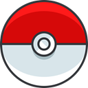 video game, pokemon, gaming, nintendo, Pokeball Red icon