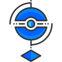Pokestop, gaming, video game, pokemon, nintendo Black icon