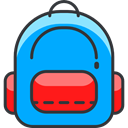 Bags, Backpack, luggage, travel, baggage DeepSkyBlue icon