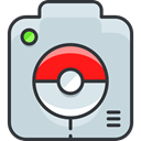nintendo, video game, pokemon, gaming, Camera LightGray icon