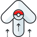 video game, Arrows, up arrow, nintendo, pokemon, gaming WhiteSmoke icon