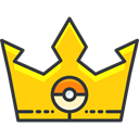 pokemon, video game, gaming, nintendo, crown Gold icon