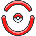 pokemon, Red Team, nintendo, gaming, video game Black icon