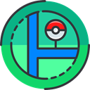 gaming, Map, Maps And Location, nintendo, pokemon, video game DarkSlateGray icon