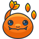 Avatar, pokemon, gaming, nintendo, Charmander, Character, Creature, video game DarkOrange icon