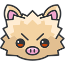 gaming, Character, Avatar, Creature, nintendo, video game, mankey, pokemon NavajoWhite icon