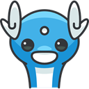 pokemon, Character, Avatar, gaming, nintendo, Creature, Dratini, video game DarkSlateGray icon