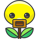 Bellsprout, Character, pokemon, video game, Creature, Avatar, nintendo, gaming Yellow icon
