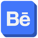 Behance, social media RoyalBlue icon
