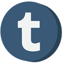 social media, Tumblr DarkSlateBlue icon