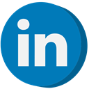 Linkedin, social media DarkCyan icon