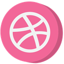 social media, dribbble PaleVioletRed icon