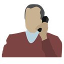 corporate lawyer, person, telephone conversation, man with phone Sienna icon