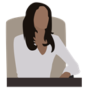 Business lady, woman in a chair, manager, chief, Director, person, business woman LightGray icon