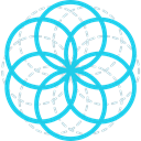 Sacred, mystic, Esoteric, geometry, Circles, symbols, Shapes And Symbols DarkTurquoise icon