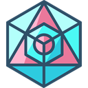 Icosahedron, geometry, symbols, Sacred, mystic, Esoteric, Shapes And Symbols DarkSlateGray icon