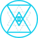 mystic, Esoteric, Shapes And Symbols, Sri Yantra, geometry, symbols, Sacred DarkTurquoise icon