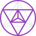 Metatron Cube, geometry, symbols, Sacred, mystic, Esoteric, Shapes And Symbols DarkOrchid icon