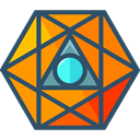 geometry, symbols, Sacred, mystic, Esoteric, Shapes And Symbols, Octahedron DarkSlateGray icon