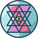 geometry, symbols, Sacred, mystic, Esoteric, Shapes And Symbols, Sri Yantra DarkSlateGray icon