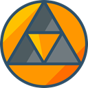Sacred, mystic, Esoteric, triangle, geometry, symbols, Shapes And Symbols DarkOrange icon