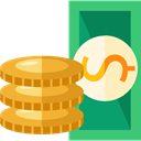 Notes, Business, Change, Money, Coins, Cash, stack, Currency, Business And Finance Goldenrod icon
