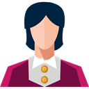 Social, Businesswoman, Professions And Jobs, user, woman, profile, Avatar Black icon